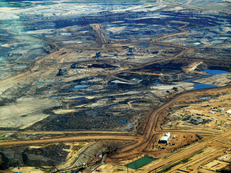 "Alberta ""tar sands"" oil development, 2008."